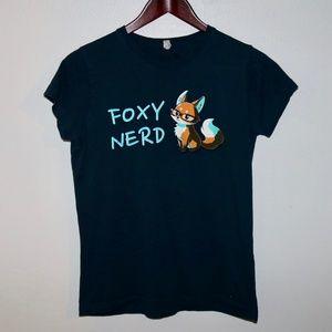 Tops - Foxy Nerd Graphic Tee Tshirt